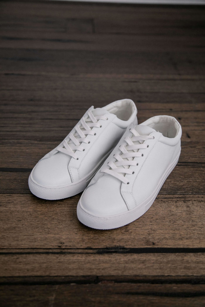 Grace Loves Lace Essential White Leather Sneaker