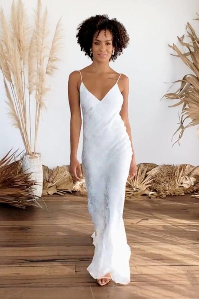 Brunette bride wearing Grace Loves Lace Loyola Gown