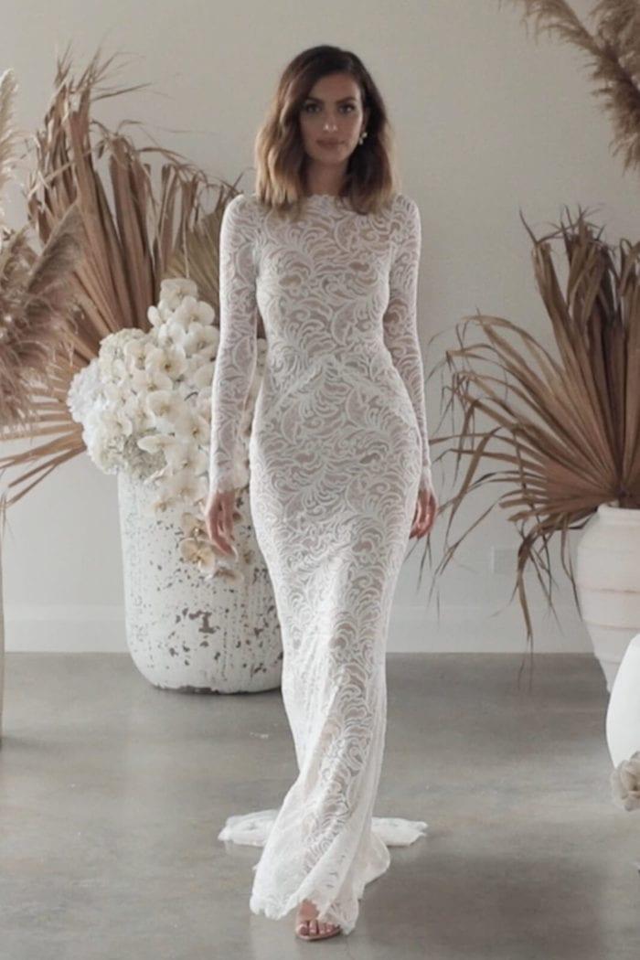Bride wearing Grace Loves Lace Orla Gown