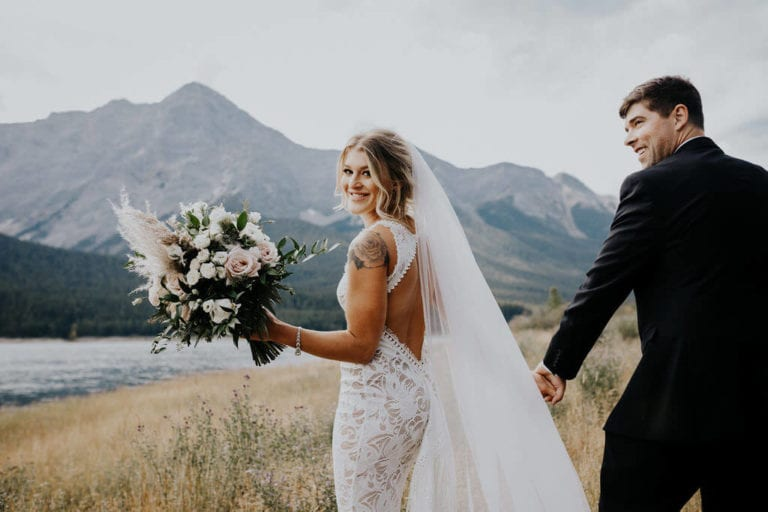 Joshua & Hailey in the Edie & Arlo Gown