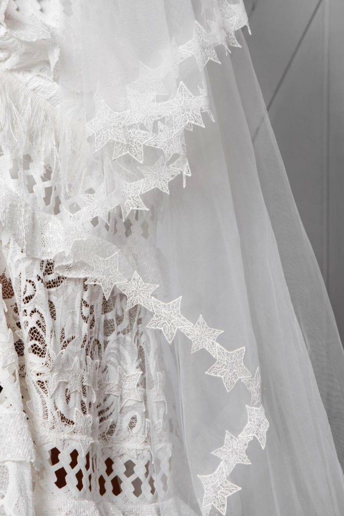 Close up of lace trim on Grace Loves Lace Elson Veil