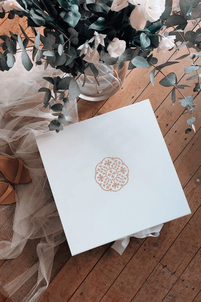Shot of Grace Loves Lace Song Gown Box