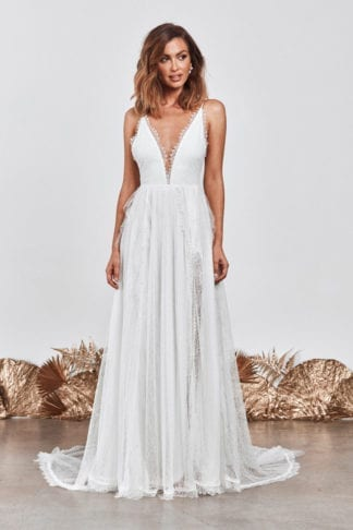 Bride wearing Grace Loves Lace Song Gown