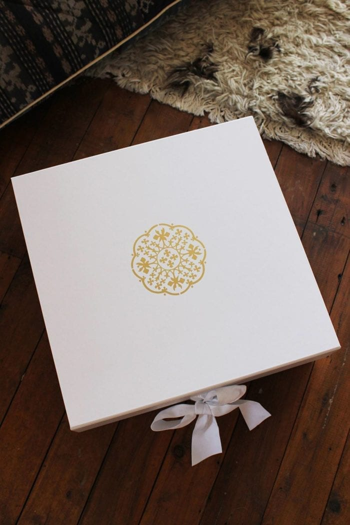 Shot of Grace Loves Lace Sol Gown Box