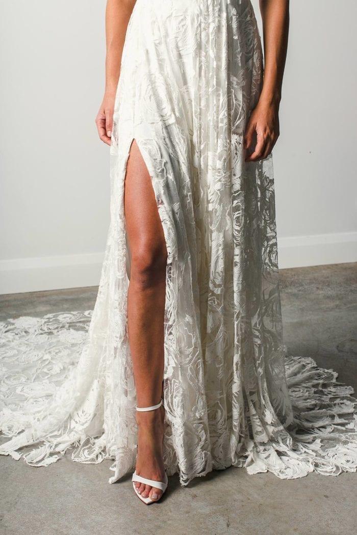 Bride wearing Grace Loves Lace Megan Gown