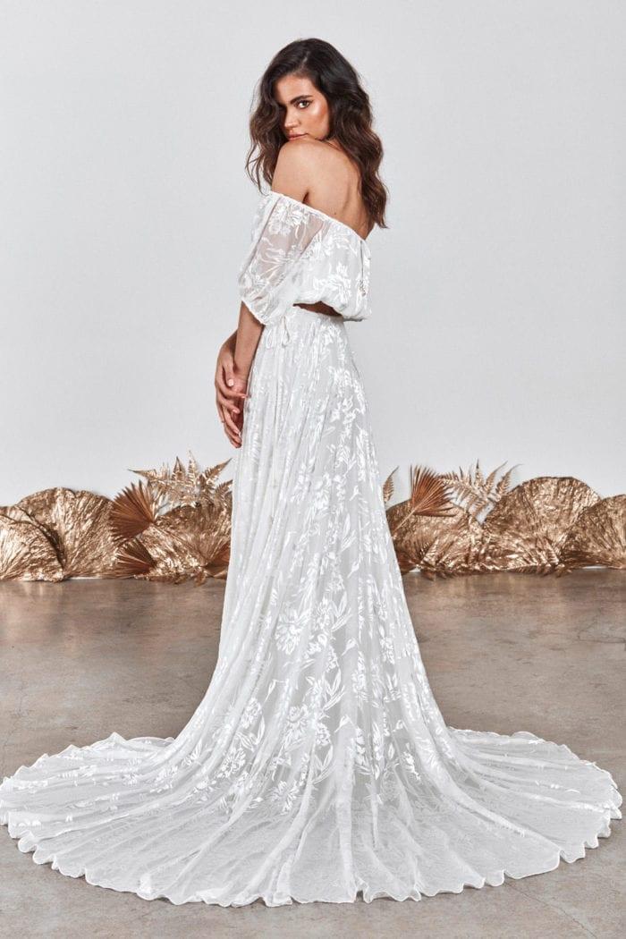 Brunette bride wearing Grace Loves Lace Loyola Set