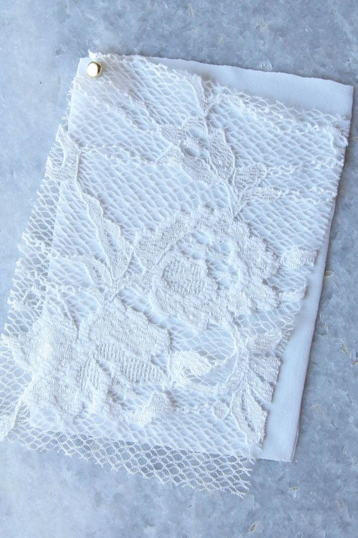 Photo of Grace Loves Lottie Gown fabric detail swatch