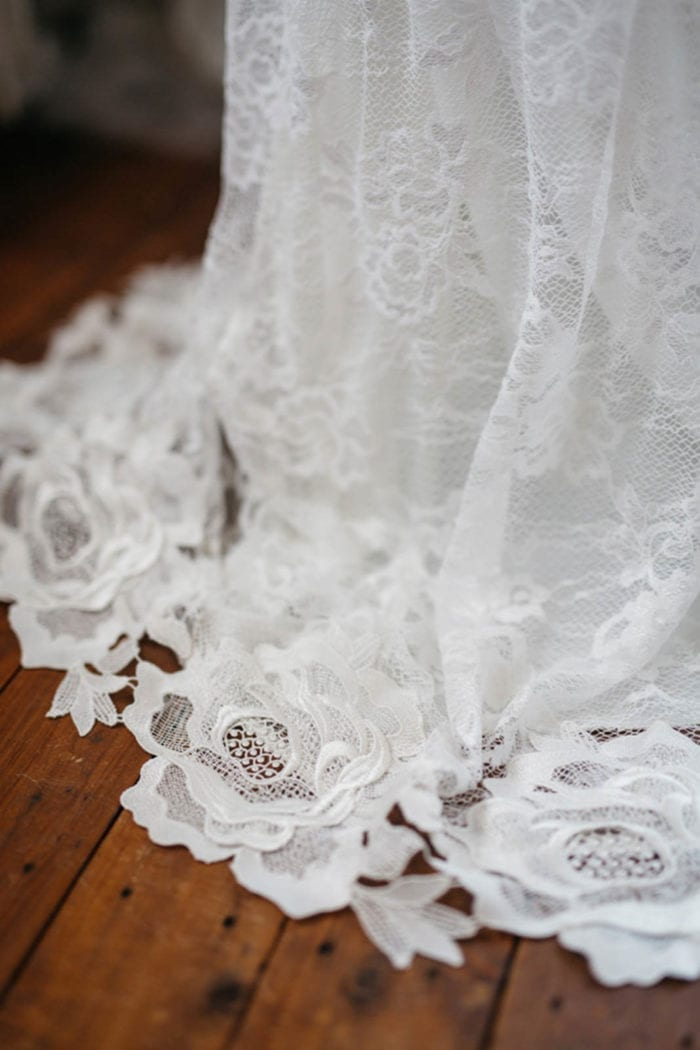 Close-up of Grace Loves Lace Lottie Gown skirt detail