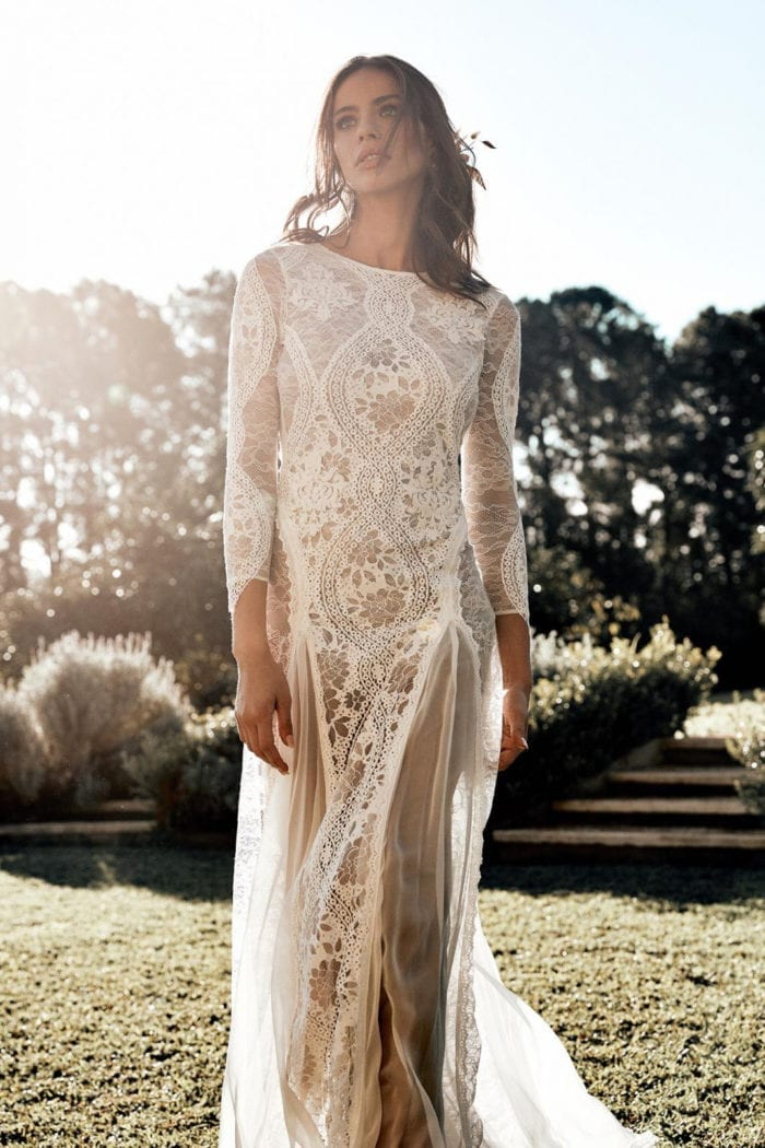 Bride wearing Grace Loves Lace Inca Gown