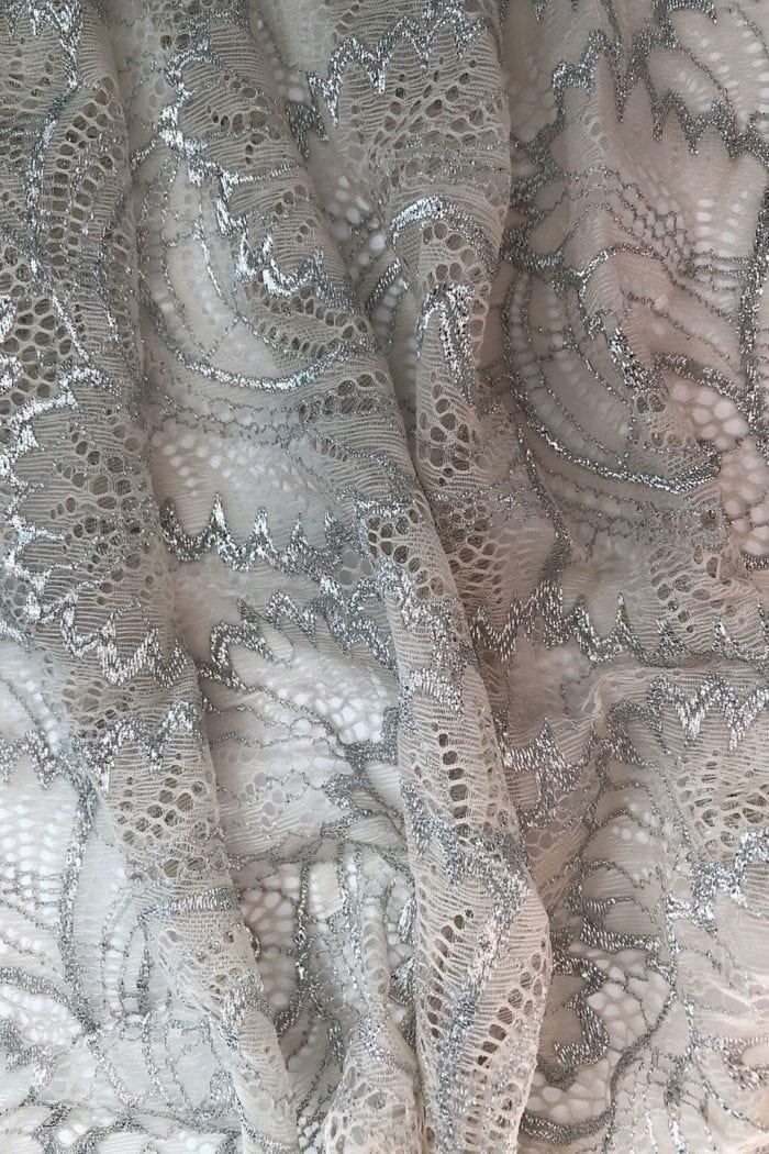 Close-up shot of Grace Loves Lace Farrow Gown detail