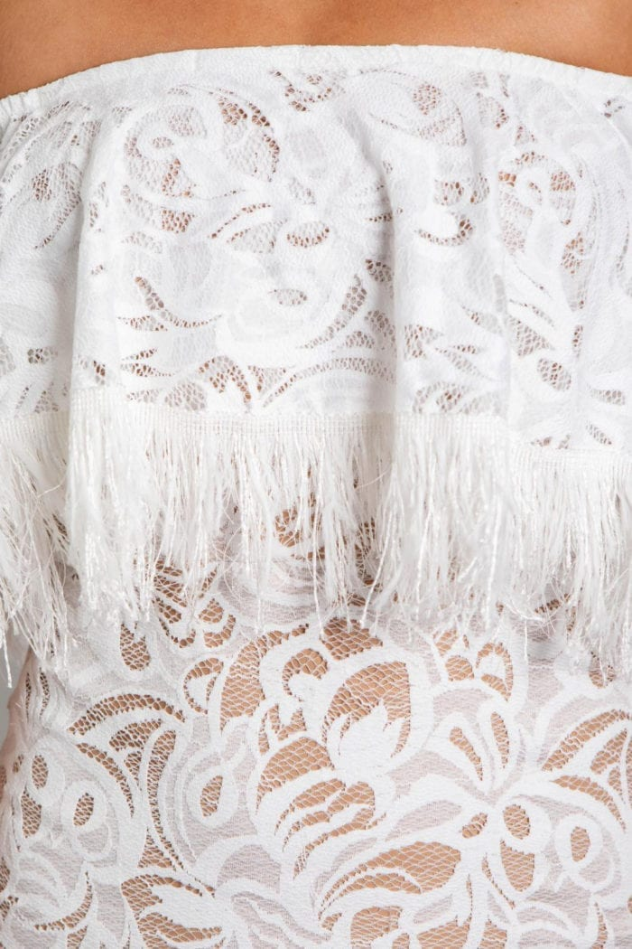 Close-up of Grace Loves Lace Dominga Dress with Nude Lining