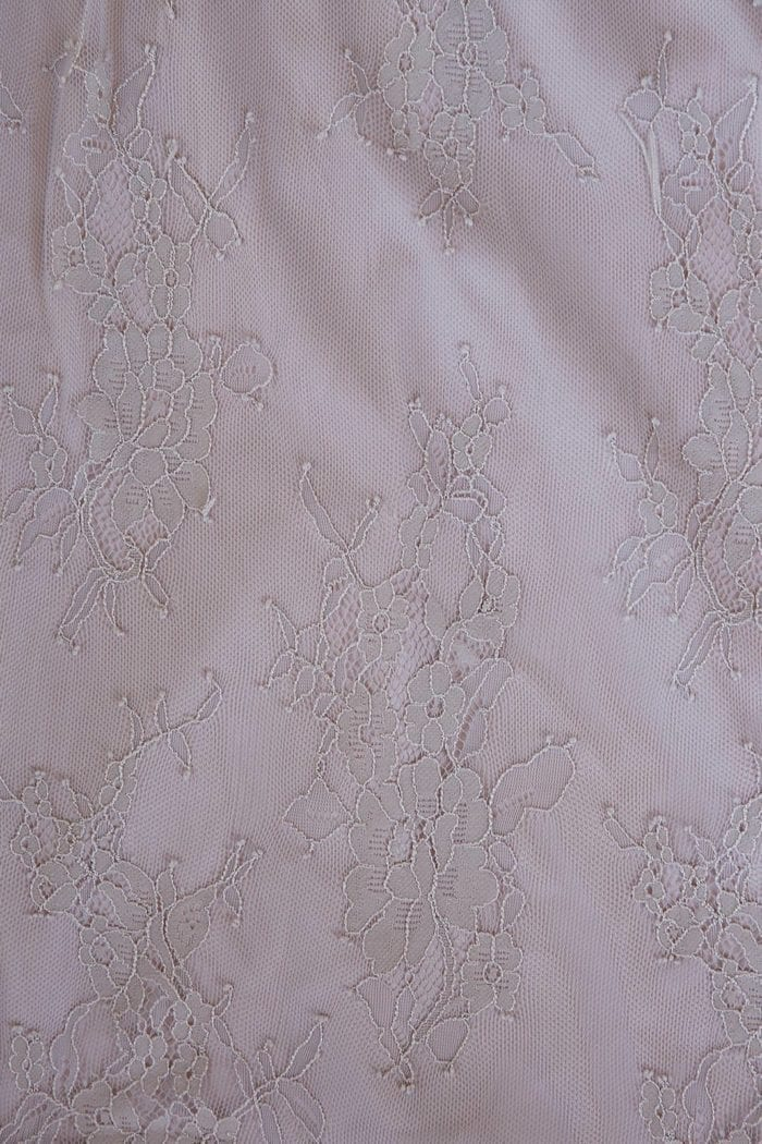 Close-up of Grace Loves Lace Belle Lace Swing Skirt in Oyster detail