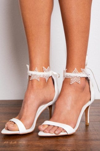 Bride wearing Grace Loves Lace Starry Night Anklets