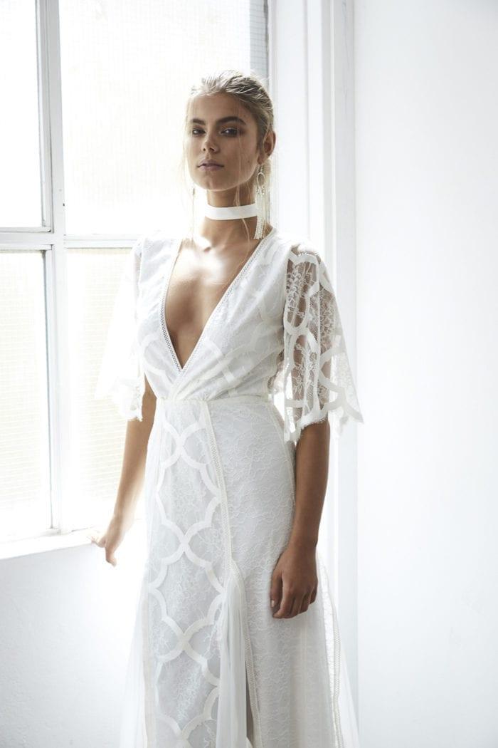 Bride wearing Grace Loves Lace Chase Silk Choker