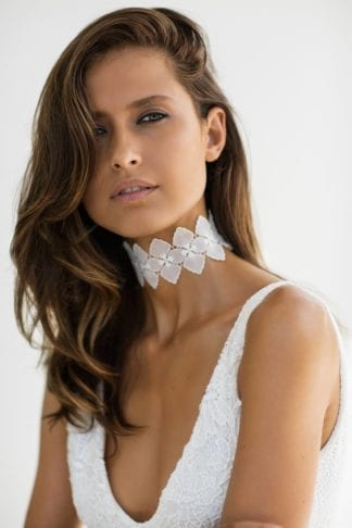 Bride wearing Grace Loves Lace Bloom Choker