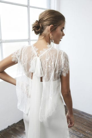 Back shot of bride wearing Grace Loves Lace Mason Top