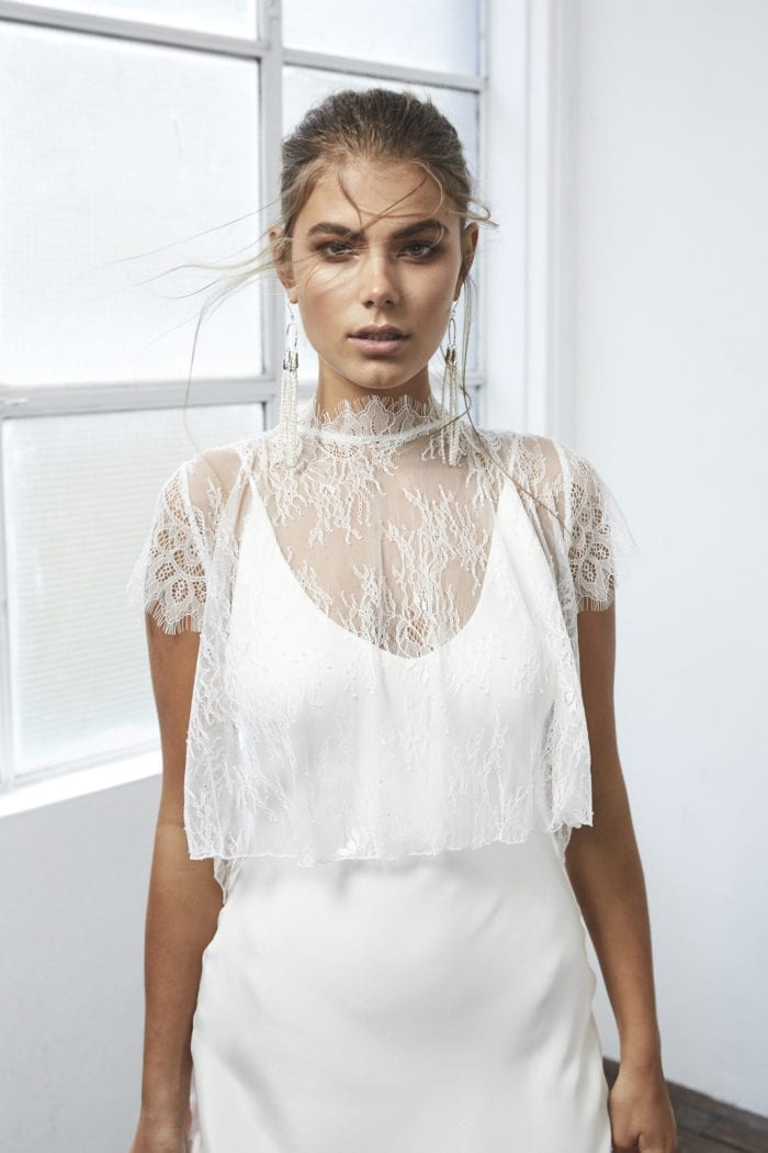 Bride wearing Grace Loves Lace Mason Top