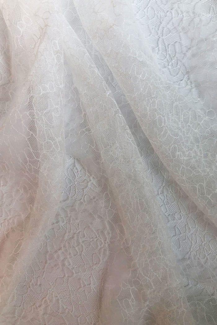 Close-up shot of Grace Loves Lace Chantilly Veil details