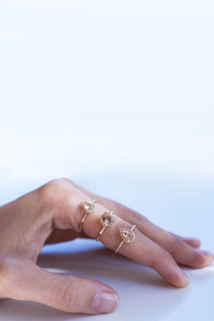 Grace Loves Lace Celine Ring displayed on finger