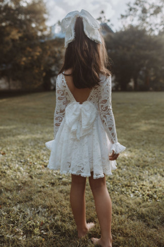 Mini Lace Twirl Dress