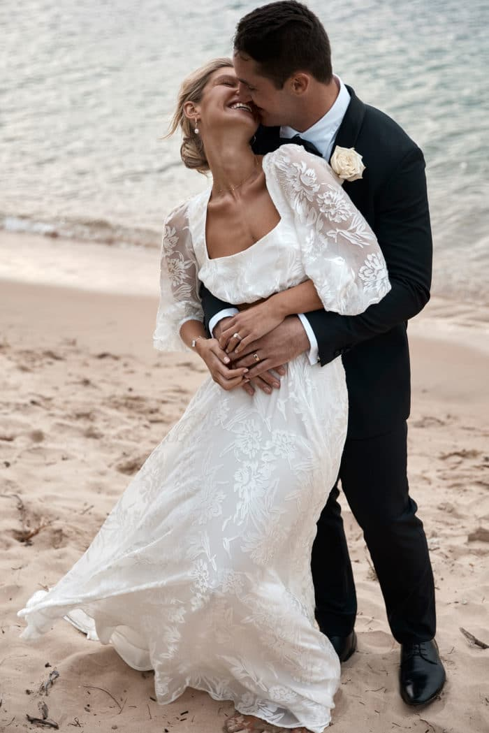 Behati_Wedding_Gown_beach