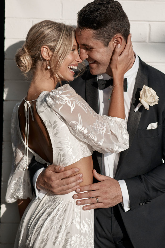 Behati_Wedding_Gown_just_married