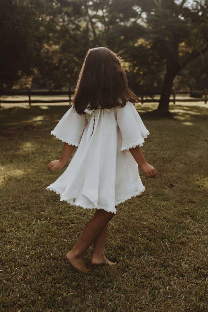 Mini Silk Sunflower Dress